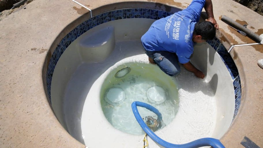 Hot tub cleaning