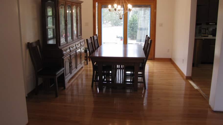 Hardwood Floor Buffing sanding wood floors Hardwood Floor After Buffing