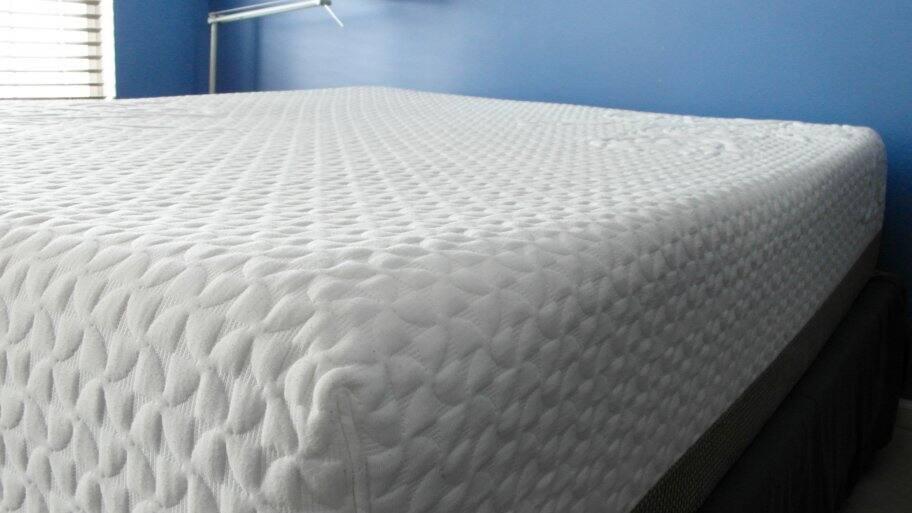 mattress in a bedroom