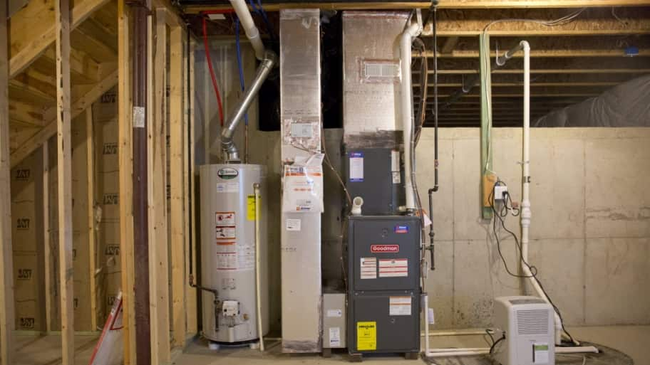Basement HVAC unit