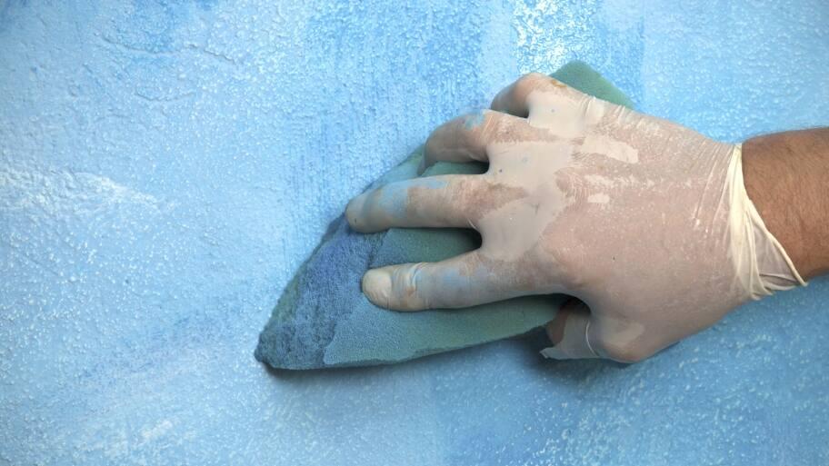 sponge paint technique on a wall
