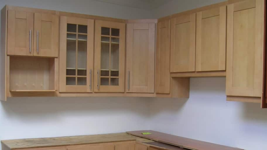 Incroyable Unfinished Cabinet Installation