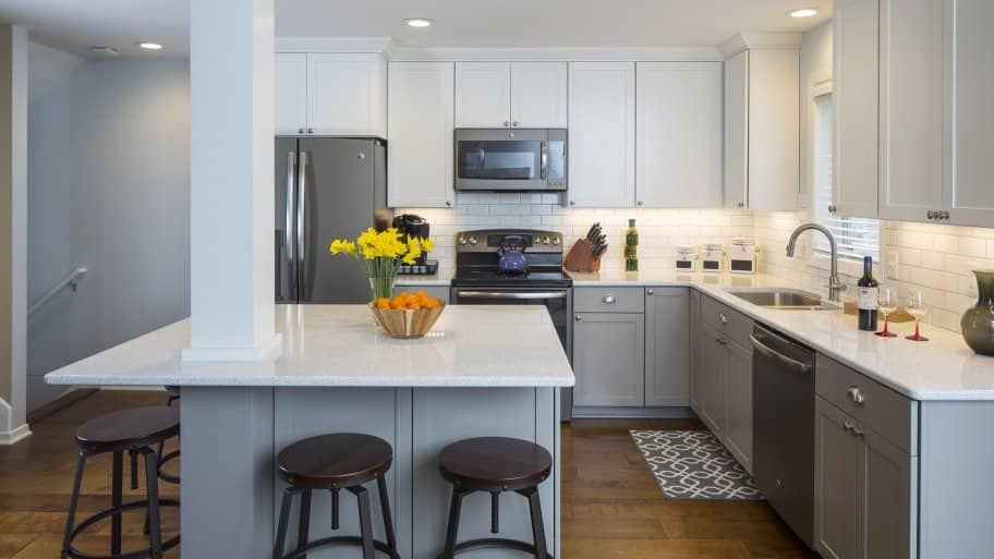 A kitchen remodel's level of finish in cabinets, countertops and appliances will affect its price. (Photo courtesy of Fair & Square Remodeling)
