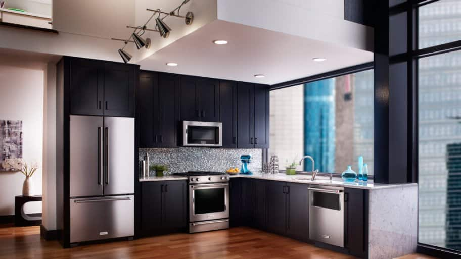 a newly remodeled kitchen with smart appliances