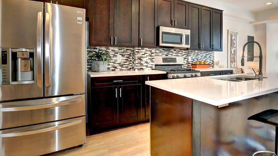 Staged kitchen in D.C.