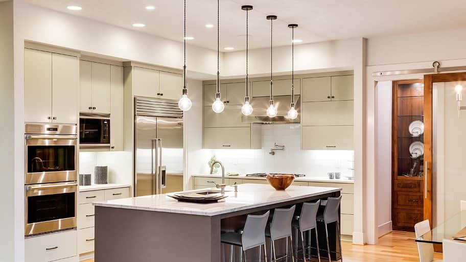 kitchen island with pendant lights & Energy-Saving Lighting Options for Your Kitchen | Angieu0027s List azcodes.com