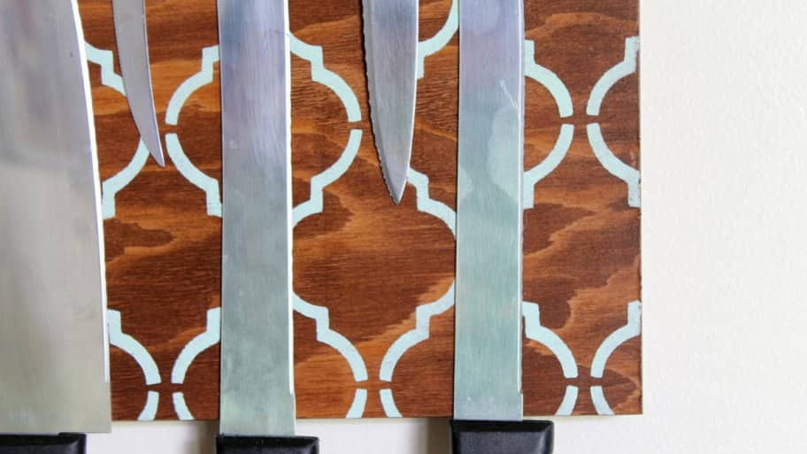 How To Make A Diy Magnetic Knife Holder Angies List