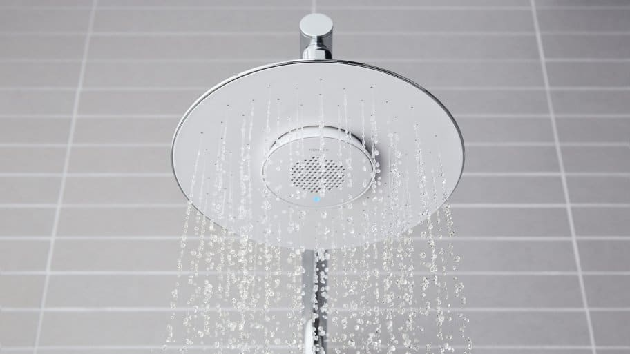 kohler moxie shower head in use