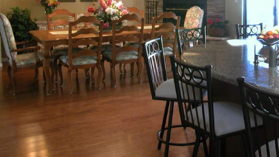 Laminate Floor In Kitchen And Dining Area