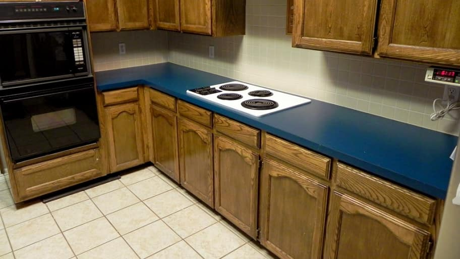 How To Paint Laminate Kitchen Countertops Video