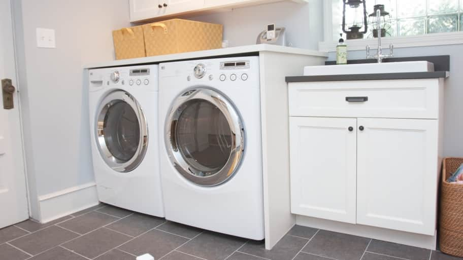 laundry room sink countertops with washer and dryer