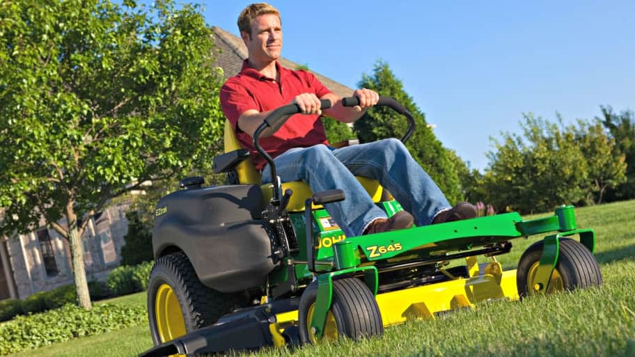 Keeping your lawn equipment in optimum shape will help ensure the look of a well-kept lawn. (Photo courtesy of Deere & Company)