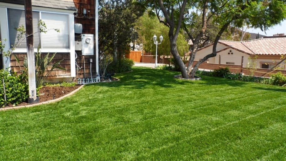 When compost breaks down, organic matter helps nourish and enrich the soil, which then encourages strong root growth for your lawn. (Photo courtesy of Angie's List member Karyn L. of Los Angeles)
