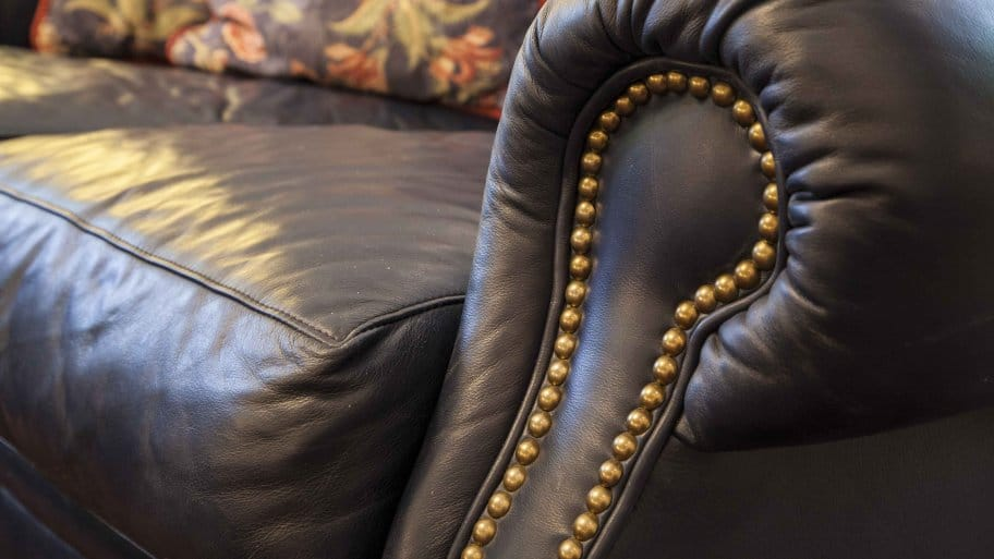 How To Clean Leather Furniture. Brown Leather Couch