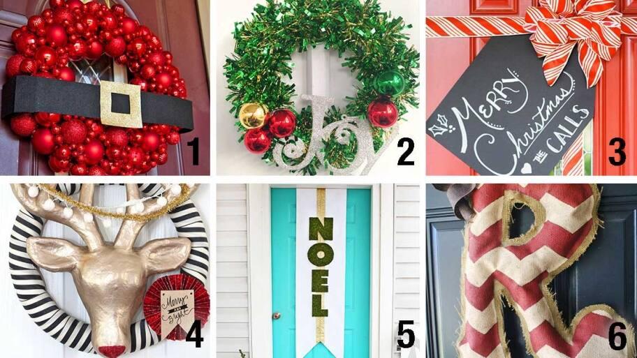 door holiday decorations