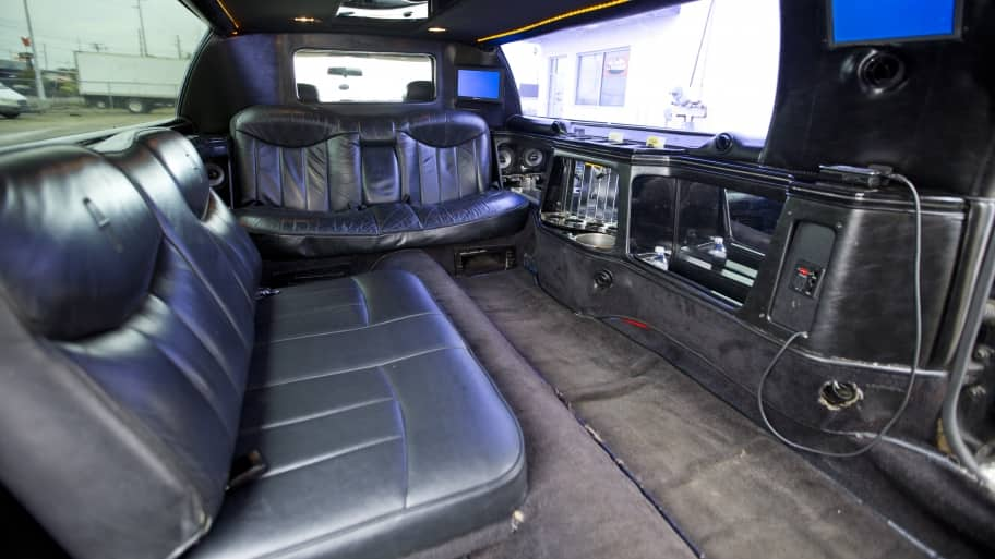 inside of a limo