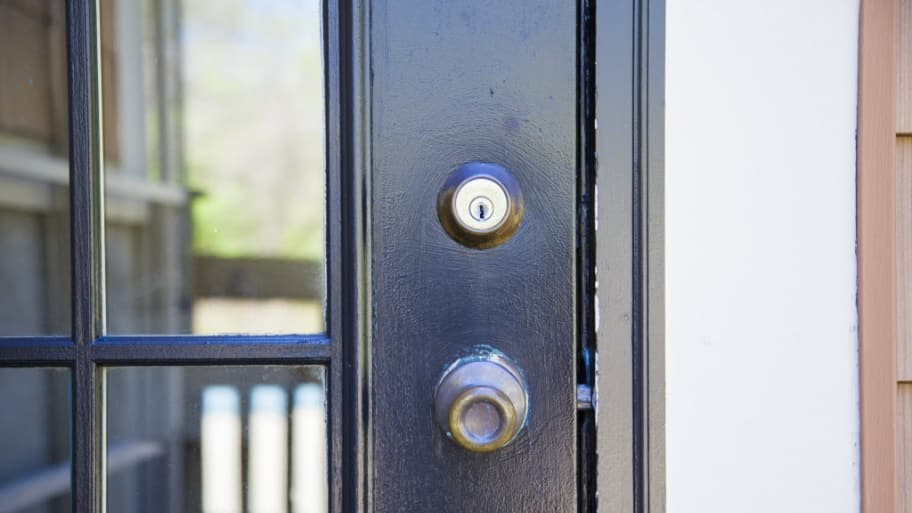 Deadbolt on a door