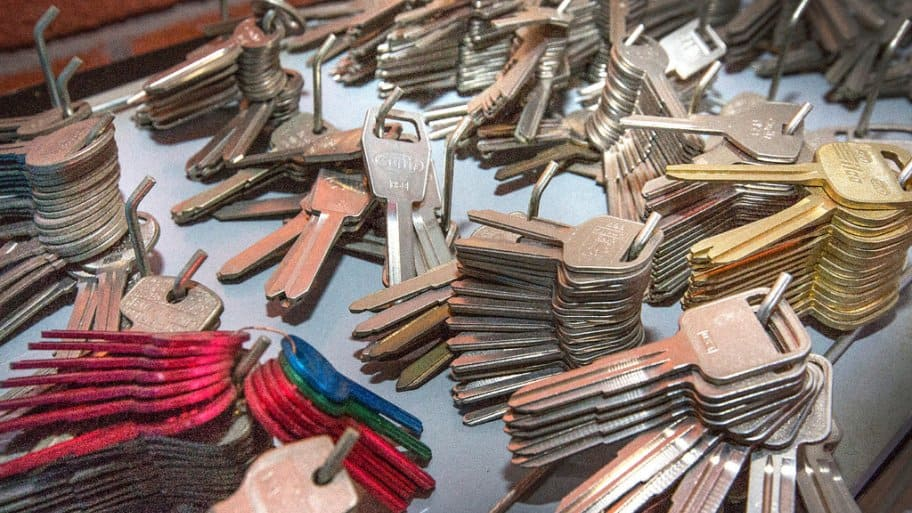 A locksmith's key supply