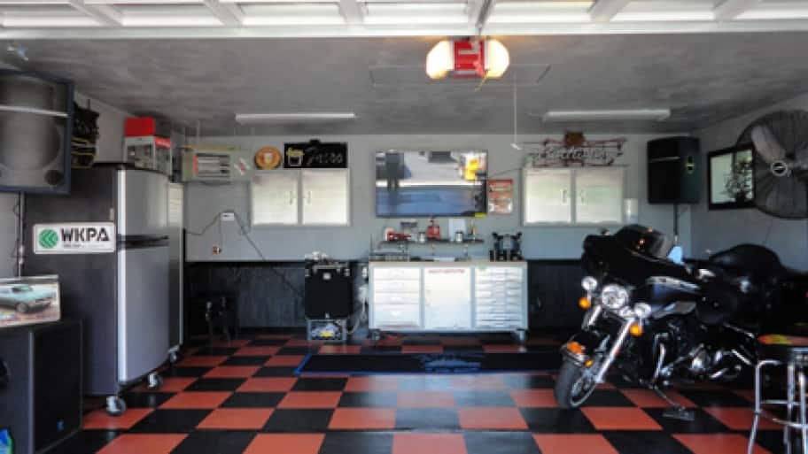 Harley Davidson-themed Man Cave
