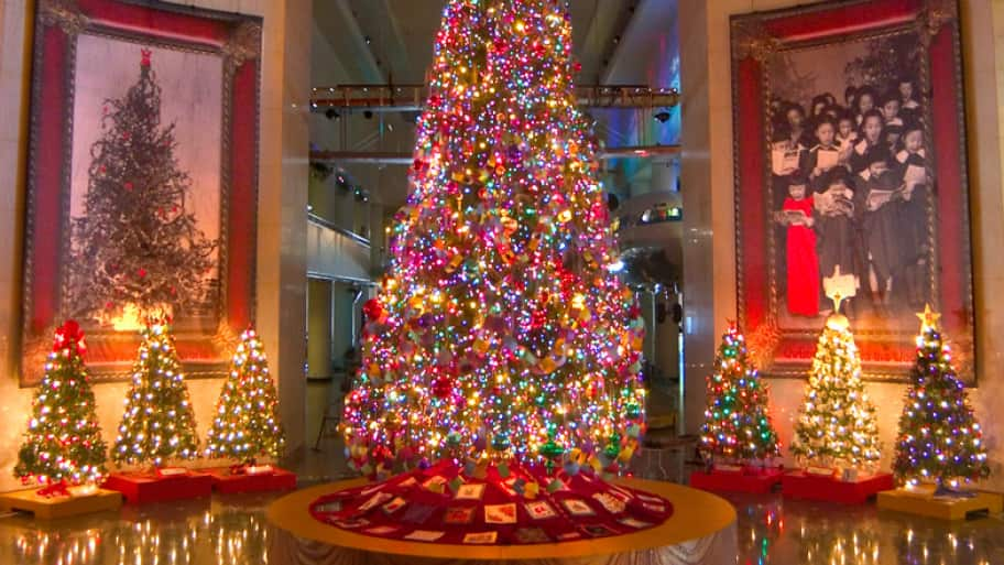 The Museum of Science and Industry Christmas Around the World and Holidays of Light is open daily through Saturday, Jan 4. (Photo courtesy of the Museum of Science and Industry)