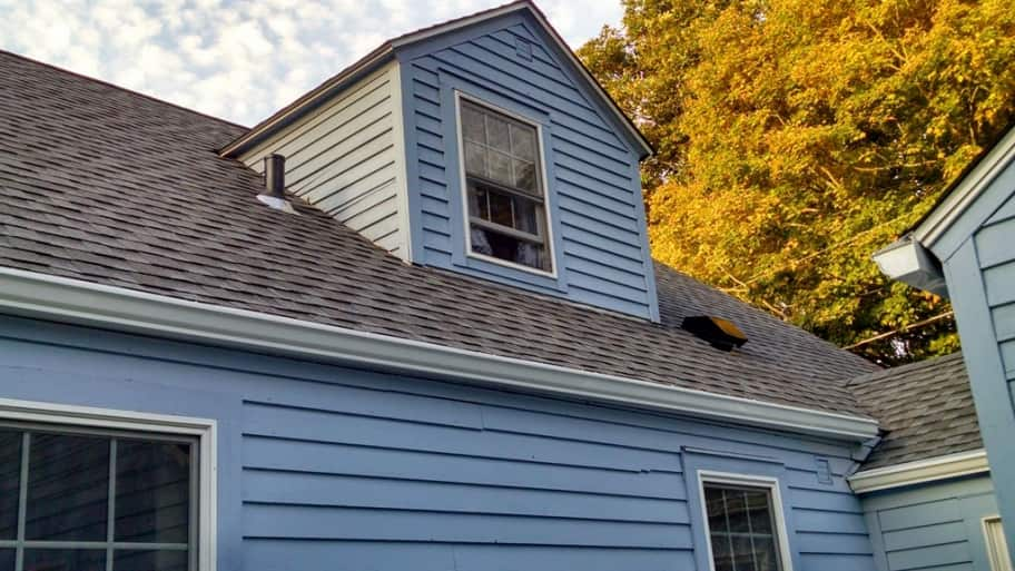 new asphalt shingle roof on home