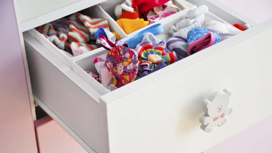 organized kids dresser drawer