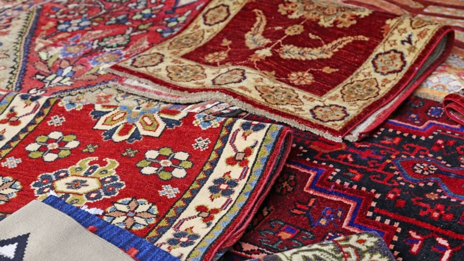 several Oriental rugs for rooms