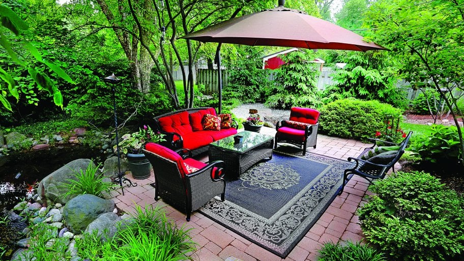 outdoor furniture on paver patio - Decorating Your Patio