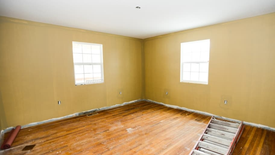 hardwood floors to refinish and walls to paint