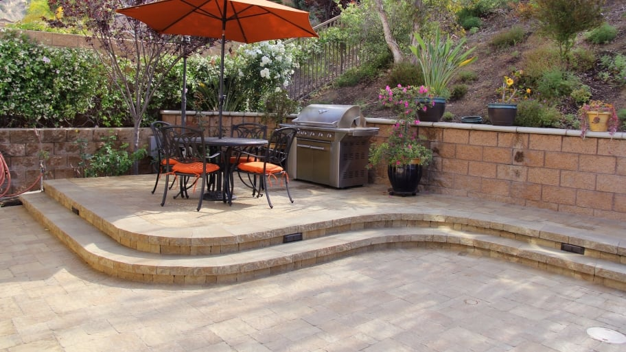 Accessorize Your Pavers Project With Outdoor Patio Furniture Or Flowers To  Add A Boost Of Color And Comfort. (Photo Courtesy Of Go Pavers)