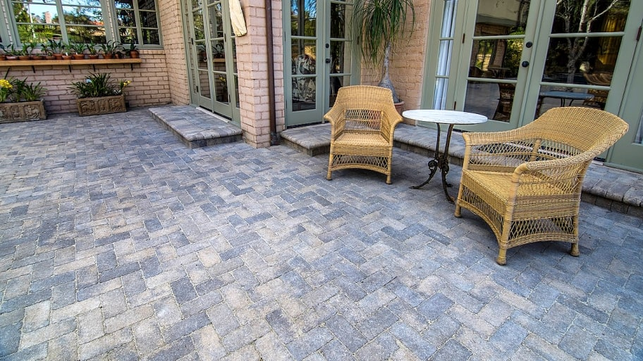 why installing pavers over concrete is a bad idea | angie's list