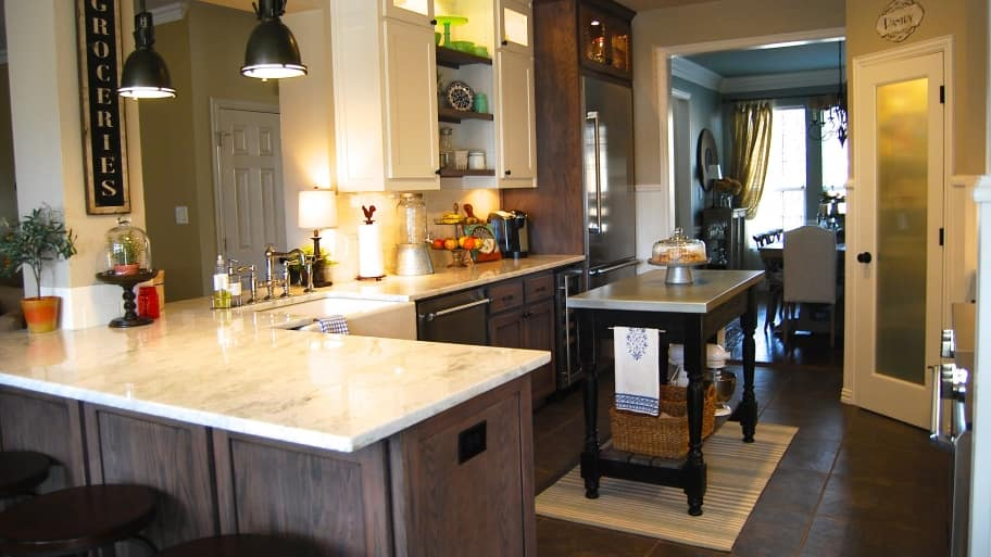 Kitchen remodel mixes modern with rustic angie 39 s list for Cost of renovating a kitchen uk