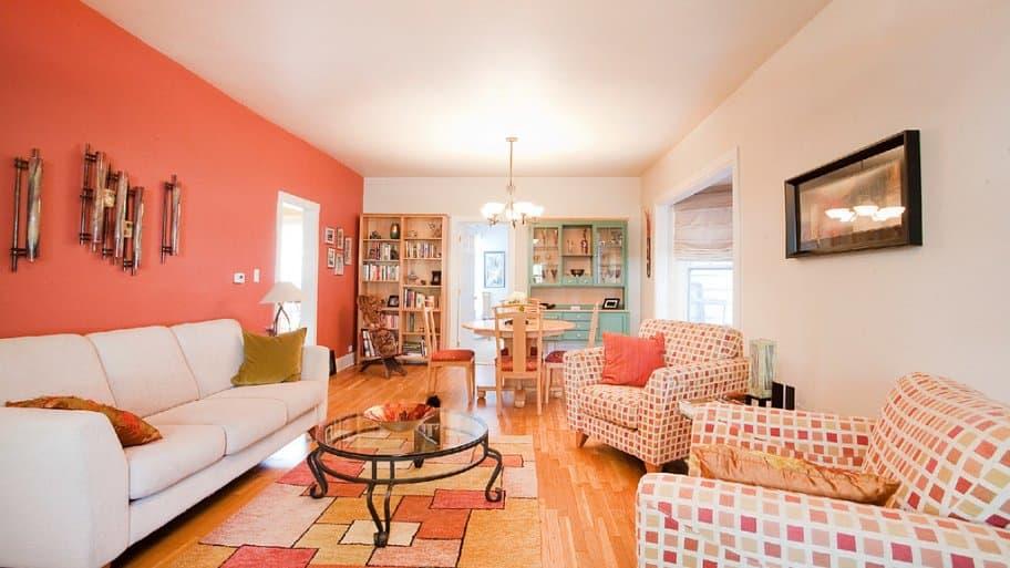Living Room, Colorful Carpet