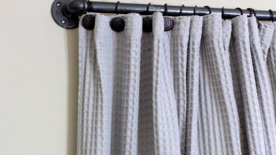 How to Make a DIY Industrial Pipe Curtain Rod | Angie\'s List