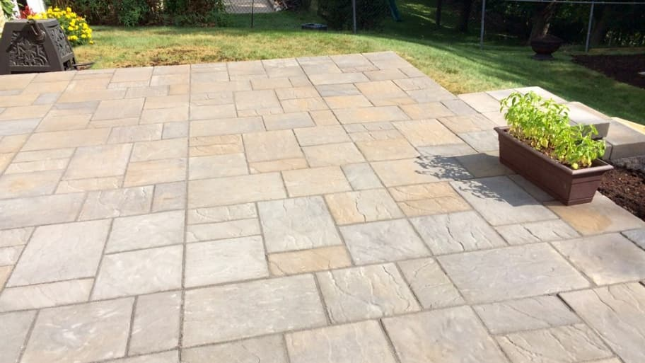 Using paver sealer on a patio or driveway can provide both cleaning and  maintenance benefits for your hardscape. (Photo courtesy of member James B.) - Should I Use A Paver Sealer? Angie's List