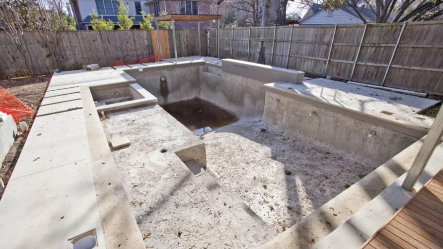 pool under construction