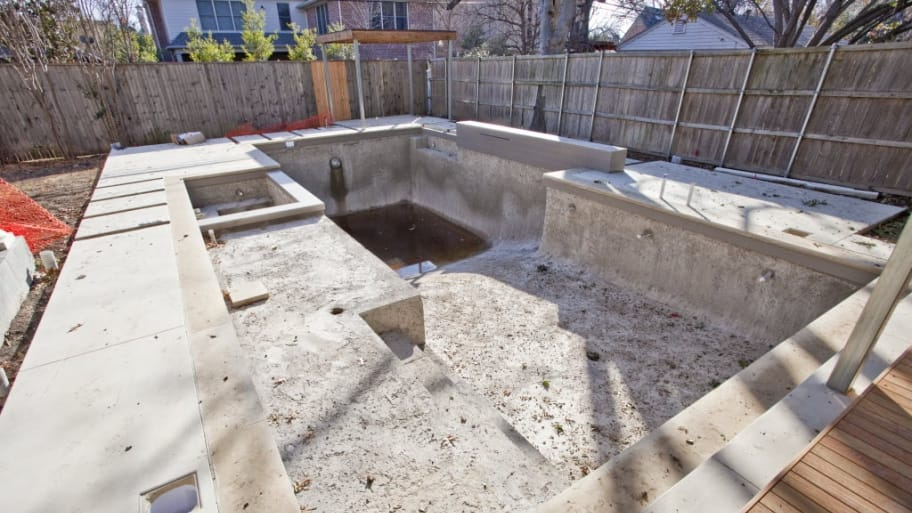 pool under construction