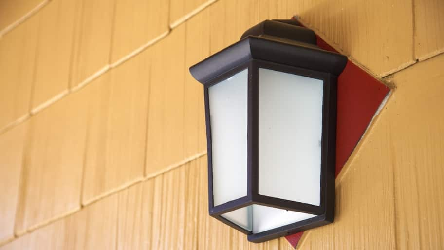 black sconce porch light