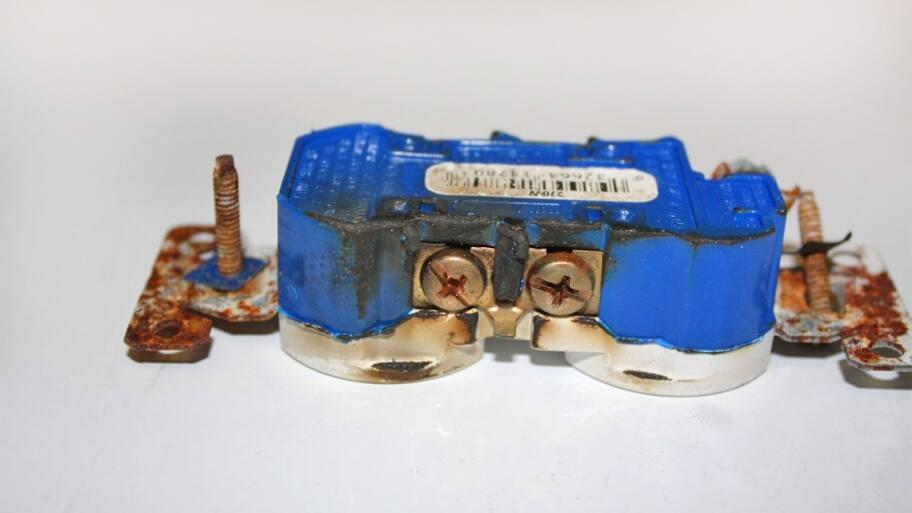 Burnt outlet