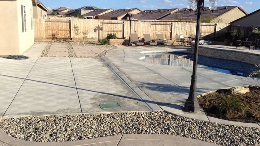 Member photo of the day backyard patio a paved paradise for Landscaping rocks bakersfield ca
