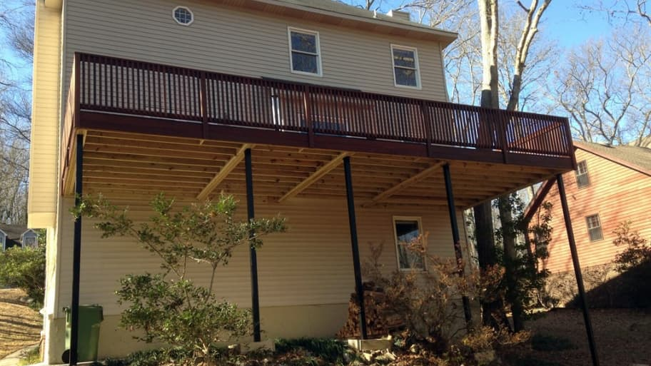 Member photo of the day second story deck redo angie 39 s list for Second story deck cost