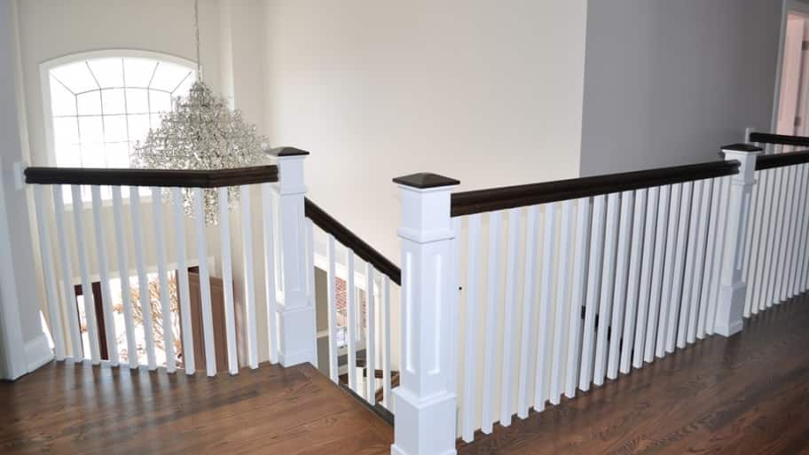 white wood staircase foyer