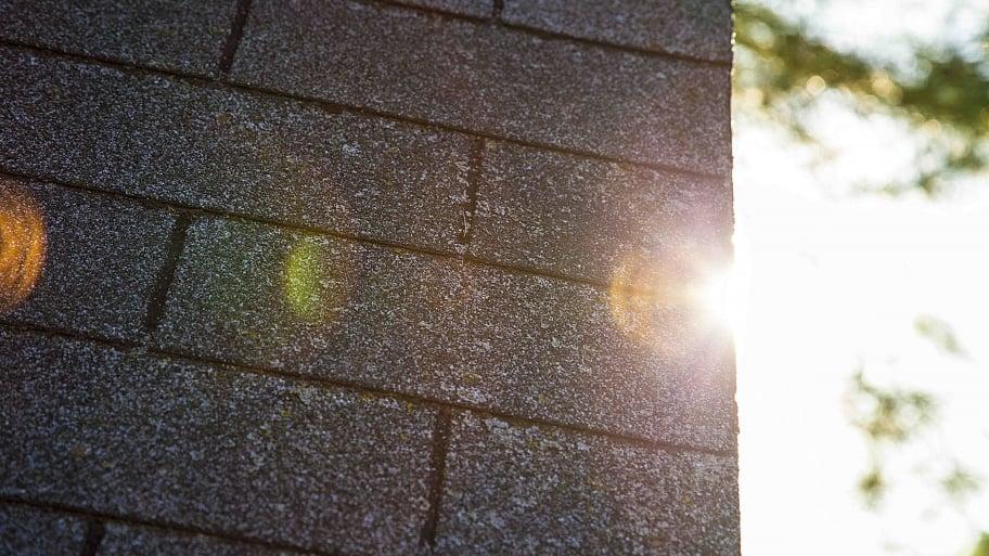 asphalt shingles on house roof