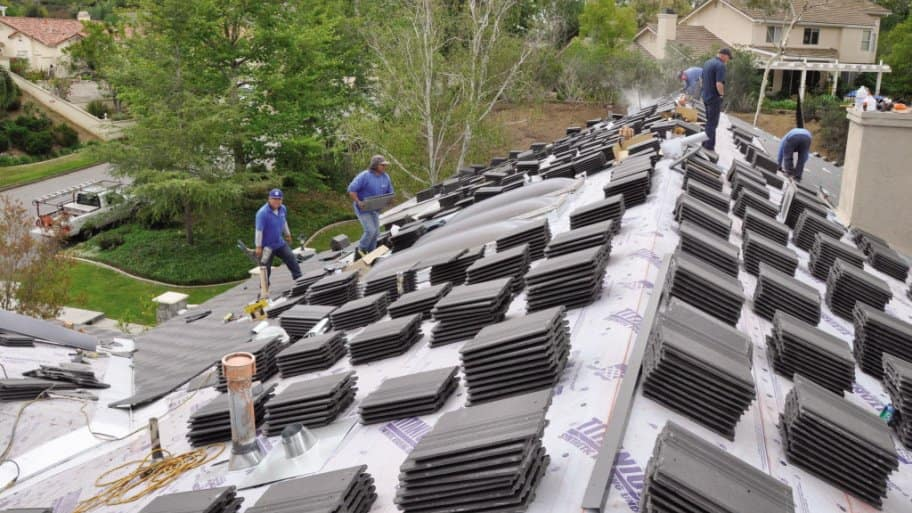 Sequoia Roofing staff installing a new roof