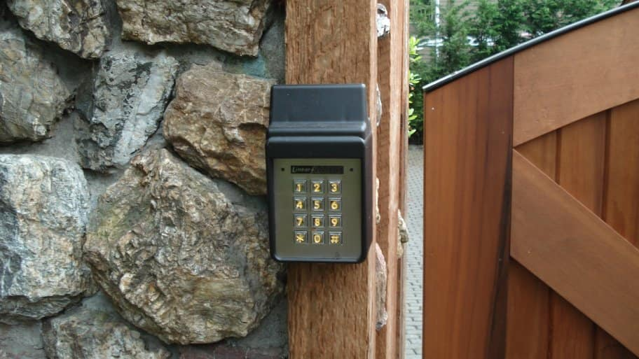 keypad for home driveway entry gate