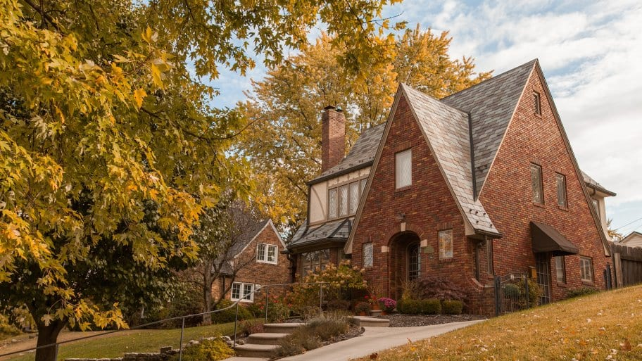 old house in fall