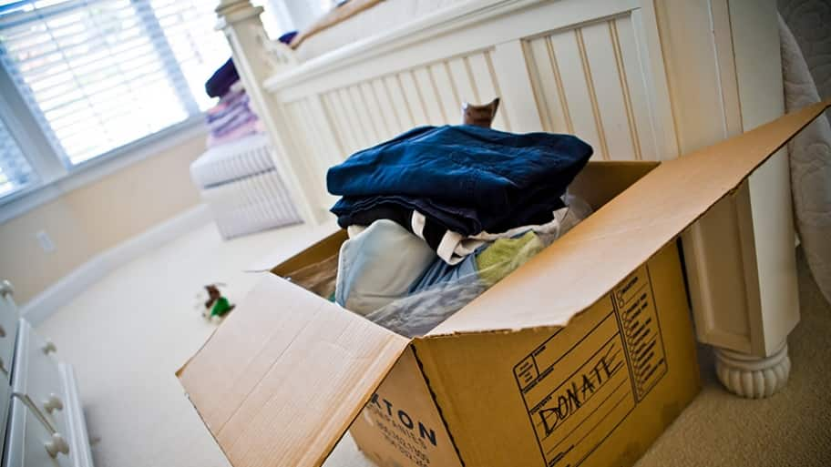 Moving requires sorting though possessions accumulated over a lifetime.