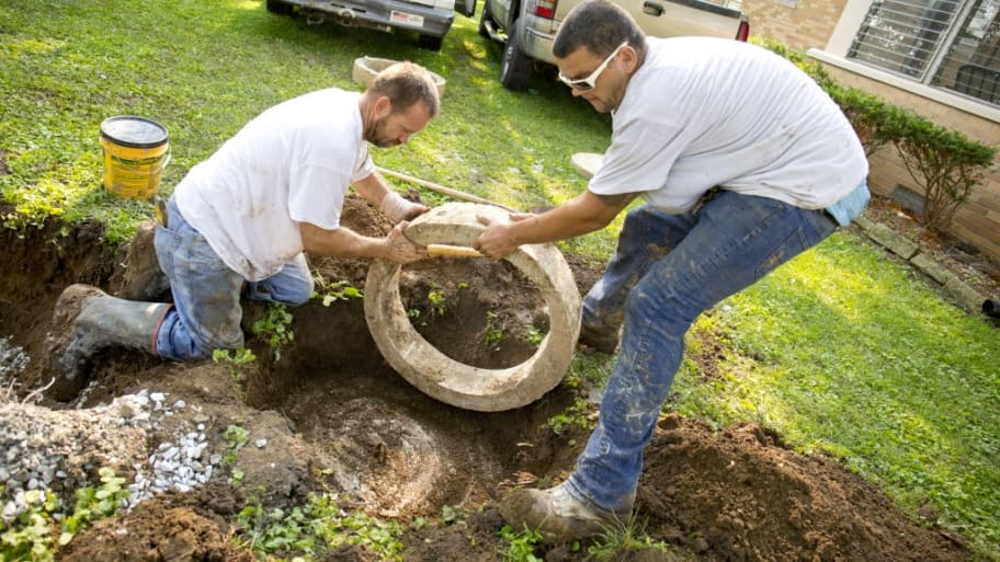 Septic tank workers