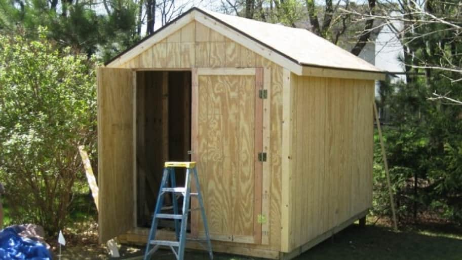 how much does an outdoor storage shed cost angie 39 s list. Black Bedroom Furniture Sets. Home Design Ideas