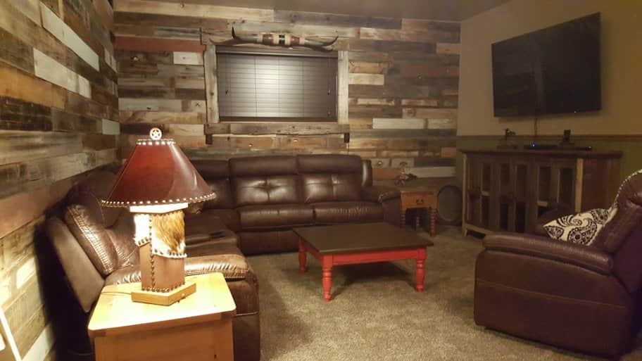 Reclaimed Wood Gives Unique Feel To Remodeled Family Room